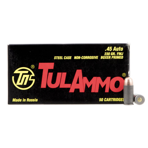 Tulammo TA452300 Handgun 45 ACP 230 gr Full Metal Jacket (FMJ) 50 Bx/ 10 Cs