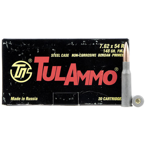 Tulammo TA762548 Rifle 7.62x54mmR 148 gr Full Metal Jacket (FMJ) 20 Bx/ 25 Cs