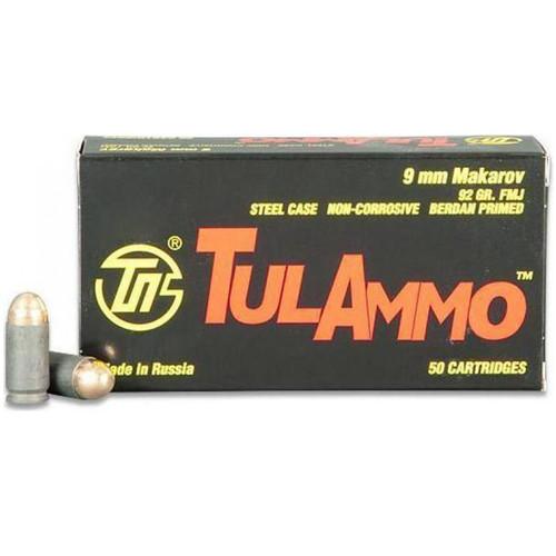 Tulammo TA918092 Handgun 9x18 Makarov 92 gr Full Metal Jacket (FMJ) 50 Bx/ 20 Cs