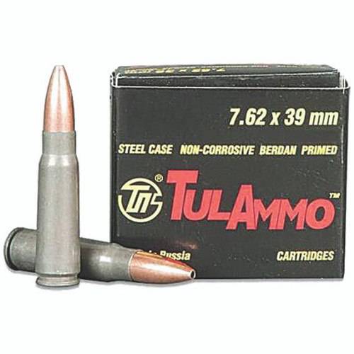Tulammo UL076212 Rifle 7.62x39mm 122 gr Hollow Point (HP) 40 Bx/ 25 Cs