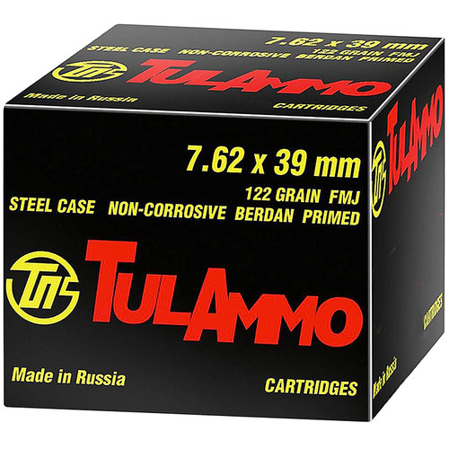Tulammo UL076240 Rifle 7.62x39mm 122 gr Full Metal Jacket (FMJ) 40 Bx/ 25 Cs
