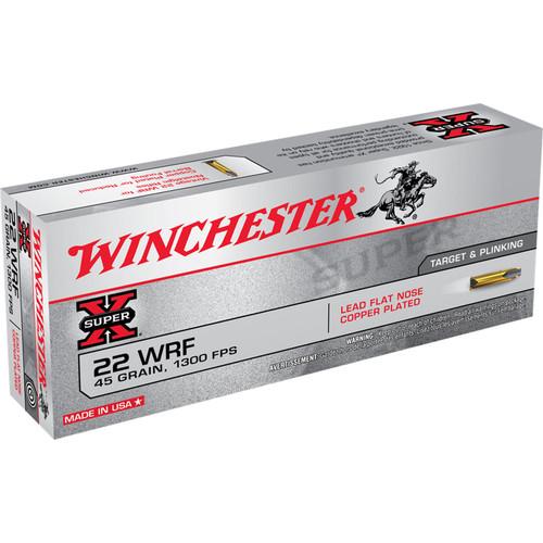Winchester Ammo 22WRF Super-X 22 WRF 45 gr Lead Flat Nose (LFN) 50 Bx/ 50 Cs