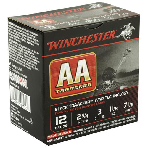 """Winchester Ammo AAHA127TB AA TrAAcker 12 Gauge 2.75"""" 1 1/8 oz 7.5 Shot 25 Bx/ 10 Cs"""
