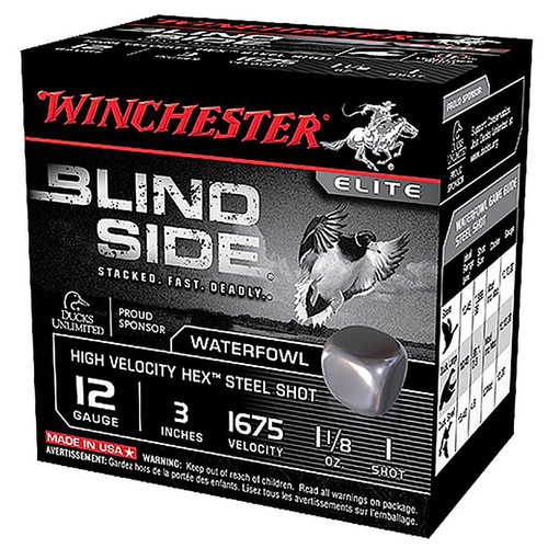 "Winchester Ammo SBS12LHVBB Blindside High Velocity 12 Gauge 3.5"" 1 3/8 oz BB Shot 25 Bx/ 10 Cs"