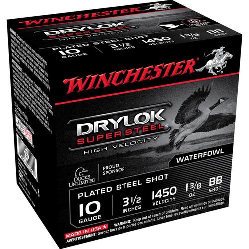 "Winchester Ammo SSH10BB Drylock Super Steel High Velocity 10 Gauge 3.5"" 1 3/8 oz BB Shot 25 Bx/ 10 Cs"