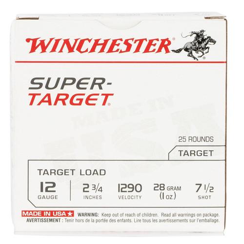 "Winchester Ammo TRGT12907 Super Target 12 Gauge 2.75"" 1 oz 7.5 Shot 25 Bx/ 10 Cs"