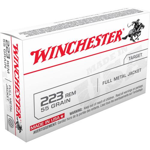 Winchester Ammo USA223R1 USA 223 Rem 55 gr Full Metal Jacket (FMJ) 20 Bx/ 50 Cs