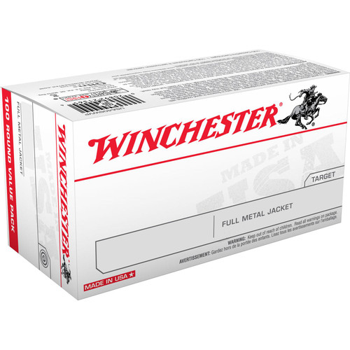 Winchester Ammo USA380VP USA 380 ACP 95 gr Full Metal Jacket (FMJ) 100 Bx/ 5 Cs