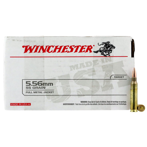Winchester Ammo USA556L1 USA 5.56 NATO 55 gr Full Metal Jacket (FMJ) 150 Bx/ 4 Cs (Value Pack)