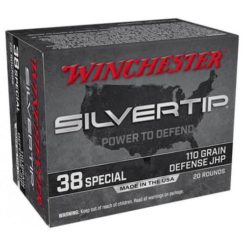 Winchester Ammo W38ST Super-X 38 Special 110 gr Silvertip Hollow Point 20 Bx/ 10 Cs