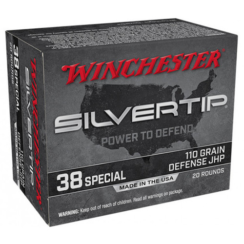 Winchester Ammo W38ST Super-X 38 Special 110 gr Silvertip Hollow Point 20 Bx/ 10 Cs