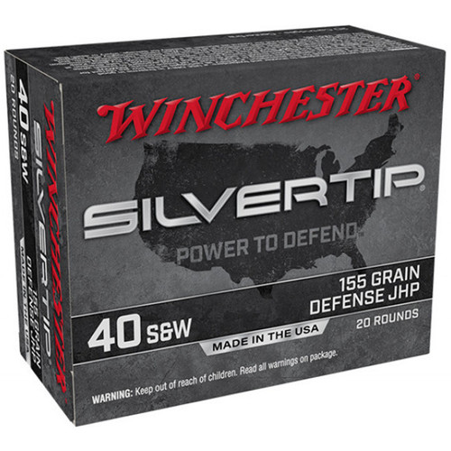 Winchester Ammo W40SWST Super-X 40 S&W 155 gr Silvertip Hollow Point 20 Bx/ 10 Cs
