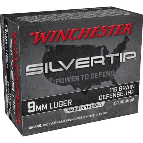 Winchester Ammo W9MMST Super-X 9mm Luger 115 gr Silvertip Hollow Point 20 Bx/ 10 Cs