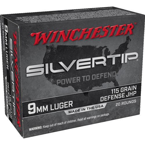 Winchester Ammo W9MMST Super-X 9mm Luger 115 gr Silvertip Hollow Point 20 Bx/ 10 Cs