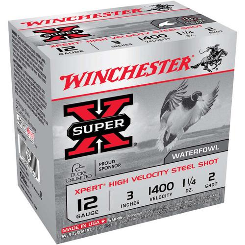 """Winchester Ammo WEX123H2 Super X Xpert High Velocity 12 Gauge 3"""" 1 1/4 oz 2 Shot 25 Bx/ 10 Cs"""