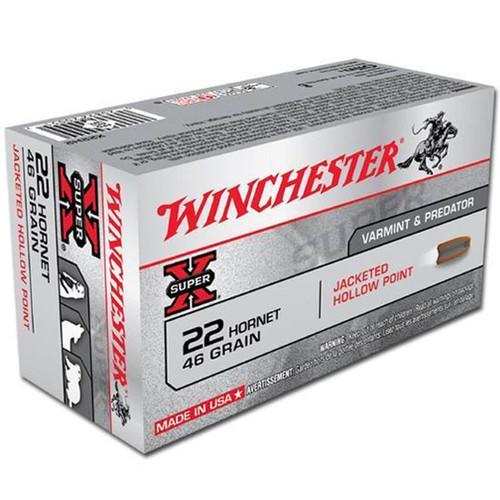 Winchester Ammo X22H2 Super-X 22 Hornet 46 gr Hollow Point (HP) 50 Bx/ 10 Cs