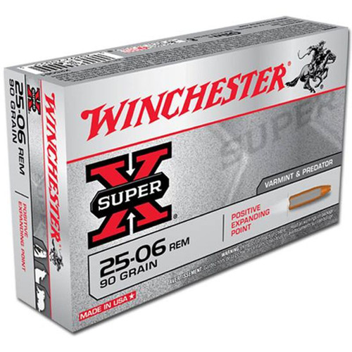 Winchester Ammo X25061 Super-X 25-06 Rem 90 gr Positive Expanding Point 20 Bx/ 10 Cs