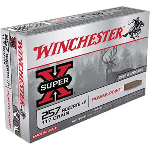 Winchester Ammo X257P3 Super-X 257 Roberts 117 GR Power-Point (PP) 20 Bx/ 10 Cs