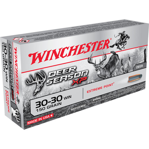 Winchester Ammo X3030DS Deer Season XP 30-30 Win 150 gr Extreme Point 20 Bx/ 10 Cs