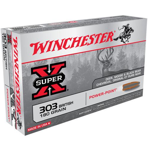 Winchester Ammo X303B1 Super-X 303 British 180 gr Power-Point (PP) 20 Bx/ 10 Cs