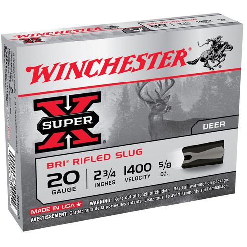 "Winchester Ammo XRS20 Super-X BRI Rifled Slugs 20 Gauge 2.75"" 5/8 oz 5 Bx/ 50 Cs"