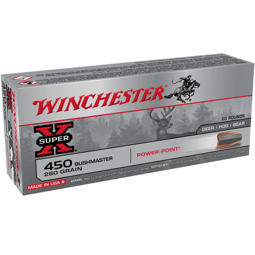 Winchester X4501 Super X 450 Bushmaster 260 gr PP 20 Rounds