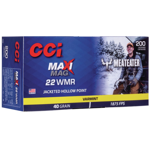 CCI 958ME Maxi-Mag Meat Eater 22 Mag 40 gr JHP 200 Rounds