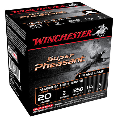"Winchester X203PH5 Super Pheasant Magnum HB 20 Gauge 3"" 1 1/4 oz 5 Shot 25 Rounds"