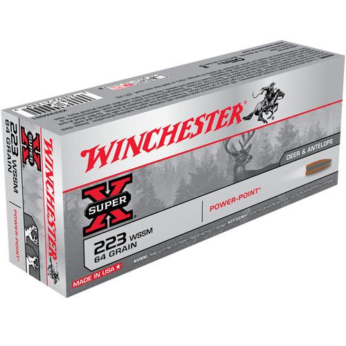Winchester X223WSS1 Super-X 223 WSSM 64 gr PP 20 Rounds