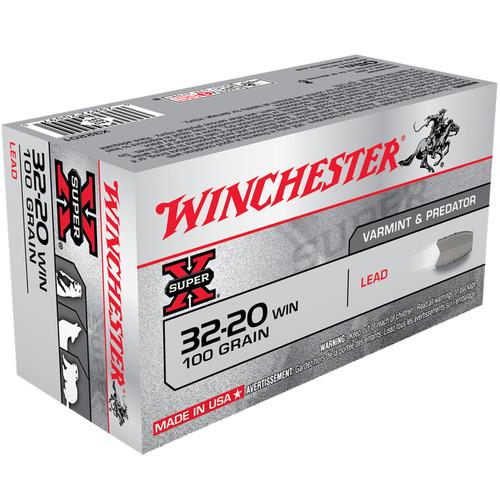 Winchester X32201 Super-X 32-20 Win 100 gr Lead 50 Rounds
