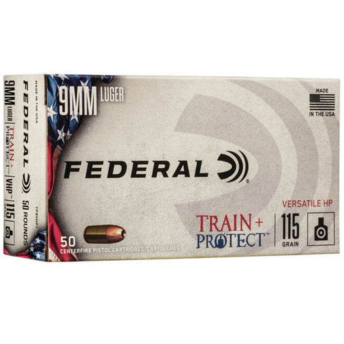 Federal TP9VHP1 Train + Protect 9mm 115 gr VHP 50 Rounds