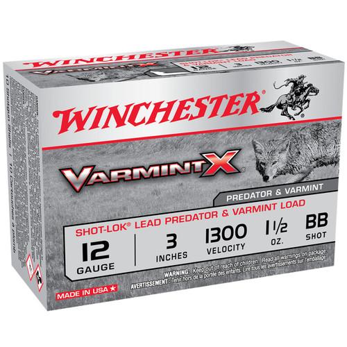 "Winchester X123VBB Varmint X Shot-Lok 12 Gauge 3"" 1 1/2 oz BB Shot 10 Rounds"