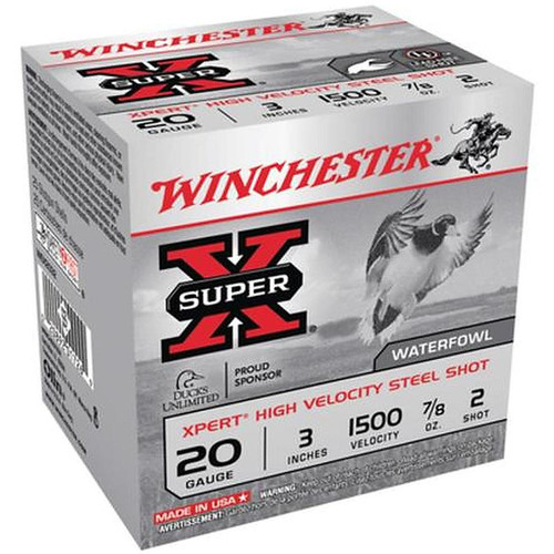 "Winchester Xpert High Velocity 20 Gauge 3"" 7/8 oz #2 25 Rounds"