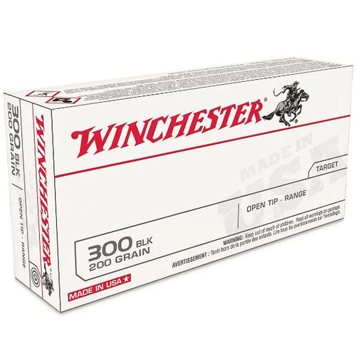 Winchester .300 Black Out 200 Grain Open Tip Range Subsonic 60 Rounds