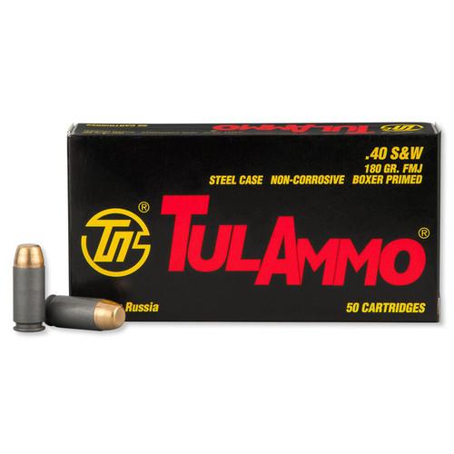 TulAmmo .40 S&W  FMJ TA401800 50 Rounds