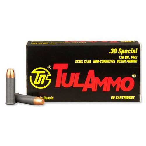 TulAmmo .38 Special FMJ TA038158 50 Rounds