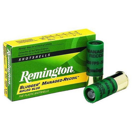 """Remington 12 Gauge Slugger Managed-Recoil Rifled Slug 2-3/4"""" 1 Oz 5 Rounds"""