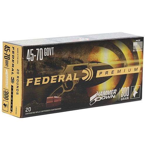 Federal Premium Hammer Down 45-70 Government Bonded Soft Point 20 Rounds