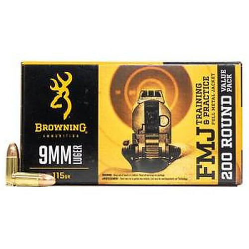 Browning 9Mm 115 Grain Full Metal Jacket 200 Rounds