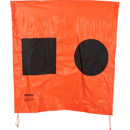 Orion Safety Products Orange Distress Flag 3 x 3-Feet
