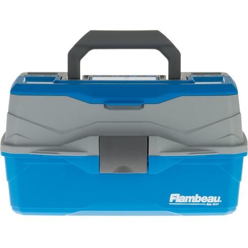 Flambeau Classic 2-Tray Tackle Box Blue/Gray