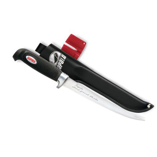 "RapalaBP706SH1 6"" Soft Grip Fillet Knife/Single Stage Sharpener/Sheath"