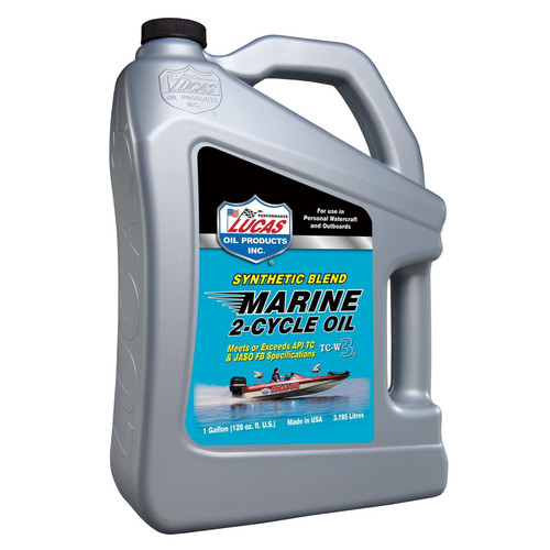 Lucas Oil 10861 Synthetic Blend 2-Cycle Marine Oil Gallon