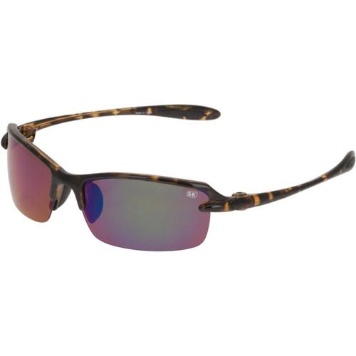 Strike King Plus Sabine Polarized Sunglasses Shiny Tortoise Shell Frame/Green Mirror Gray Base Lens