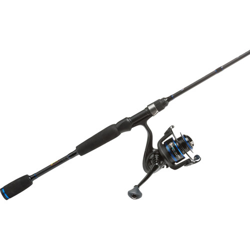 """Lews Fishing American Heroes Speed Spin Spinning Rod and Reel Combo 6'6""""/Medium/4+1/145 yd./10 lb./6.2:1"""