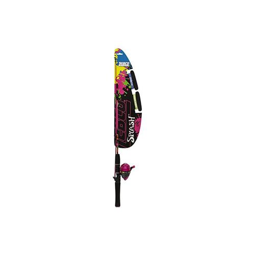 Zebco YSPLSCJPK 06 FB6 Splash Junior 402 Spincast Combo Girls Pink