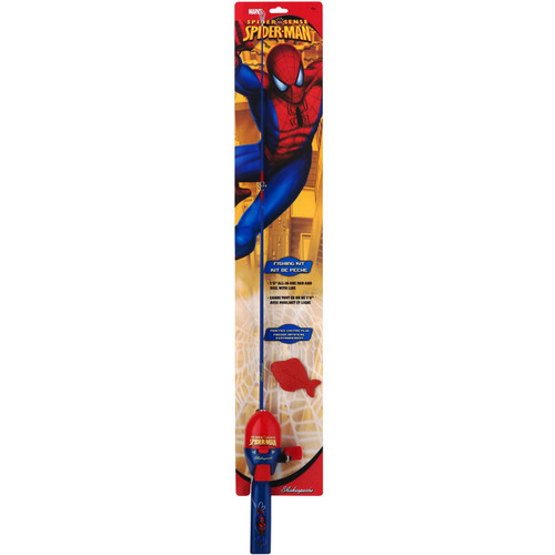 "Shakespeare Spider-Man Fishing Kit with 2'6"" All-In-One Casting Kit"