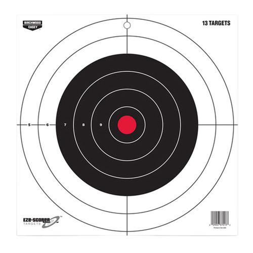 """Birchwood Casey EZE-Scorer Bull's-Eye Paper 12"""" x 12"""" Bullseye 13 Pk 37013"""