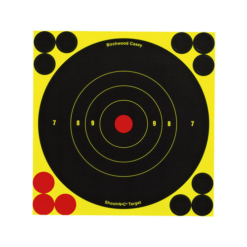 "Birchwood Casey Shoot-N-C Self-Adhesive Paper 6"" Bullseye Black 12 Pack 34512"