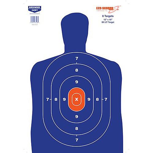 "Birchwood Casey EZE-Scorer Paper 12"" x 18"" Silhouette Blue 8 Pack BC-27"